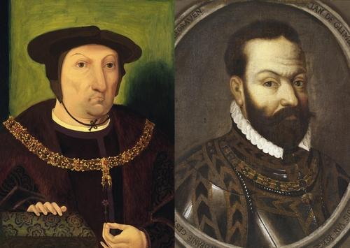Portret Jan III van Glymes (links) en Jan IV van Glymes (rechts
